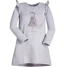 Endo - Sukienka z motylkami przy ramionach dla dziewczynki 3-8 lat D72H070_1