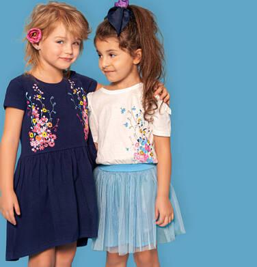 Endo - Sukienka z krótkim rękawem, odsłonięte ramiona i tiulowy dół, 2-8 lat D03H021_1 13