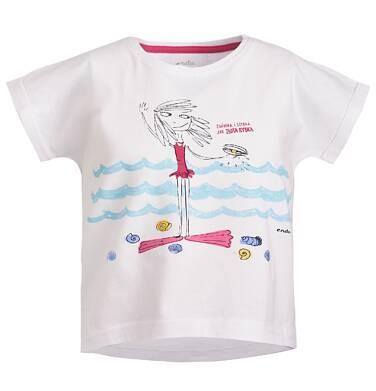 Endo - Bluzka z krótkim rękawem dla dziewczynki 3-8 lat D81G121_1