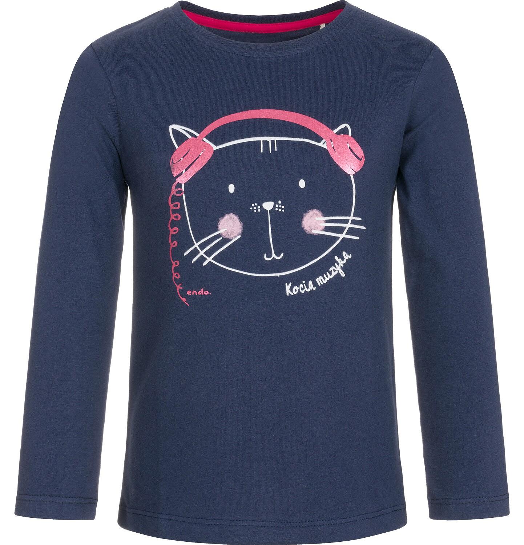 Endo - T-shirt z długim rękawem dla dziewczynki 9-13 lat D92G554_1