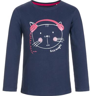T-shirt z długim rękawem dla dziewczynki 9-13 lat D92G554_1