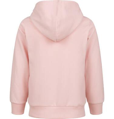 Endo - Rozpinana bluza z kapturem dla dziewczynki, z kotem, różowa, 2-8 lat D03C024_1 19