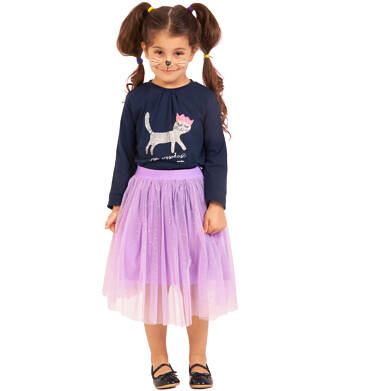 Endo - Tiulowa, długa spódnica, z gumką w pasie, różowa, 2-8 lat D03J004_1