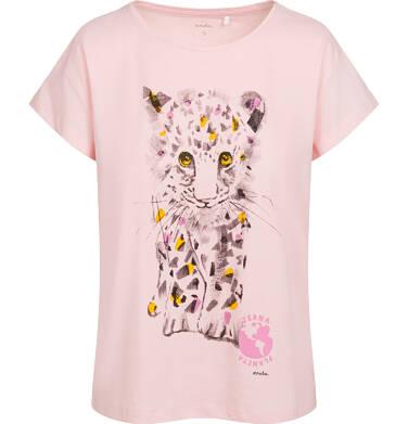 Endo - T-shirt damski z małym lampartem, pomarańczowy Y05G011_2 15