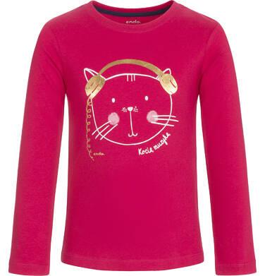 T-shirt z długim rękawem dla dziewczynki 9-13 lat D92G554_2