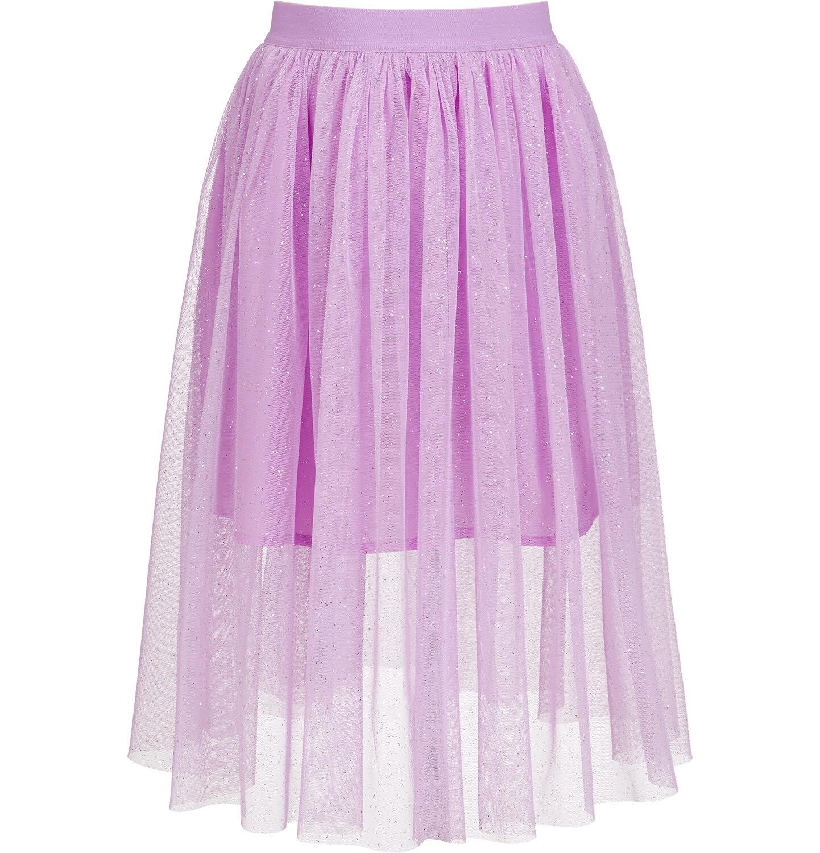 Endo - Tiulowa, długa spódnica, z gumką w pasie, różowa, 9-13 lat D03J504_1