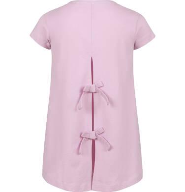 Endo - Tunika z krótkim rękawem dla dziewczynki, z syrenką, różowa, 9-13 lat D03T509_1,2