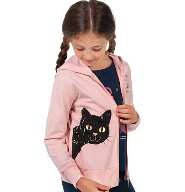 Endo - Rozpinana bluza z kapturem dla dziewczynki, z kotem, różowa, 9-13 lat D03C524_1 41