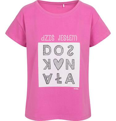 Endo - T-shirt damski, doskonała, różowy Y05G014_1 14