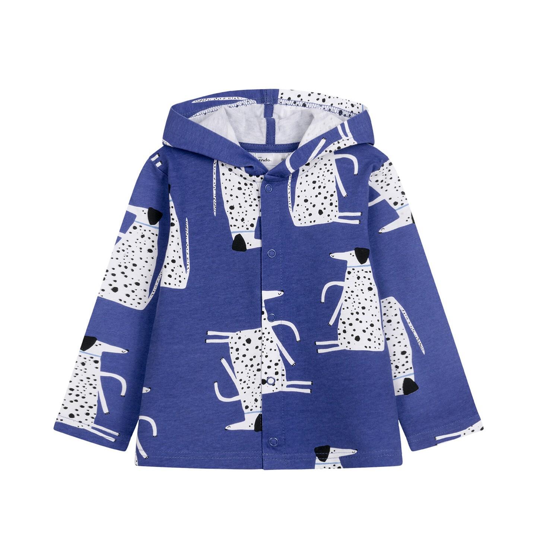 Endo - Bluza rozpinana z kapturem dla dziecka do 2 lat, deseń w psy N03C015_1