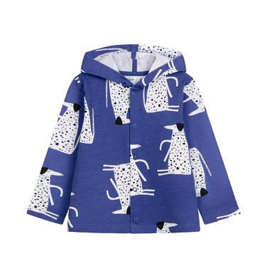 Endo - Bluza rozpinana z kapturem dla dziecka do 2 lat, deseń w psy N03C015_1,1