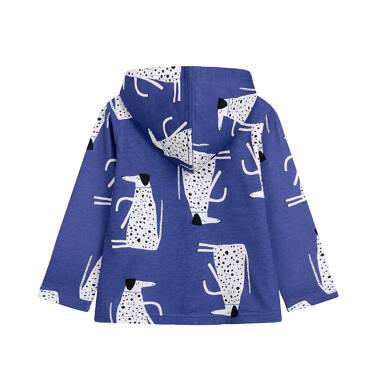 Endo - Bluza rozpinana z kapturem dla dziecka do 2 lat, deseń w psy N03C015_1 23