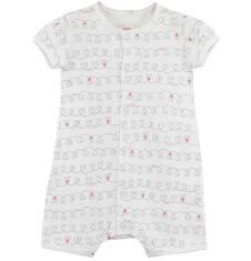 Krótki pajac we wzorki dla niemowlaka N61N025_1