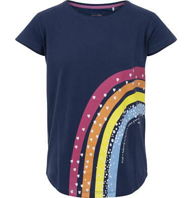 Bluzka z krótkim rękawem dla dziewczynki 9-13 lat D91G512_1