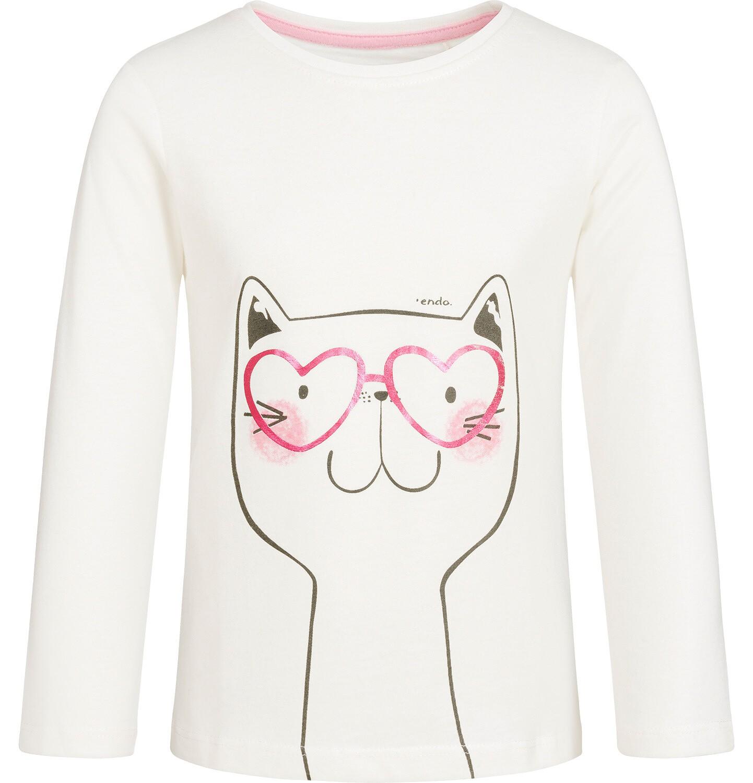 Endo - T-shirt z długim rękawem dla dziewczynki 9-13 lat D92G557_1