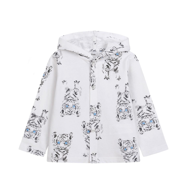 Endo - Bluza rozpinana z kapturem dla dziecka do 2 lat, deseń w tygrysy N03C016_1
