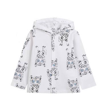 Bluza rozpinana z kapturem dla dziecka do 2 lat, deseń w tygrysy N03C016_1