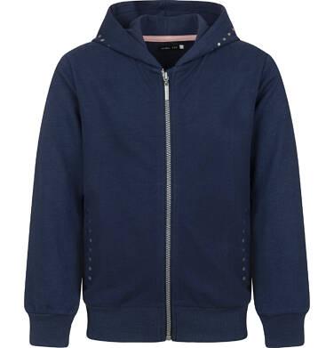Endo - Rozpinana bluza z kapturem dla dziewczynki, granatowa, 9-13 lat D03C526_1 3