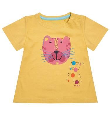 Endo - T-shirt dziewczęcy z krótkim rękawem dla dziecka 6-36 m-cy N81G026_1