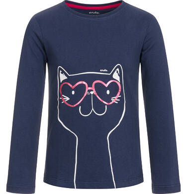 Endo - T-shirt z długim rękawem dla dziewczynki 3-8 lat D92G057_2