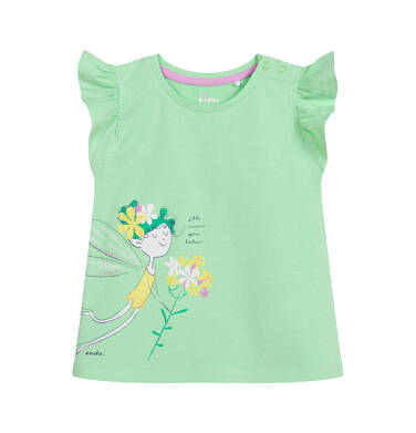 Endo - Bluzka dla dziecka do 2 lat, z wróżką, zielona N03G048_1 13