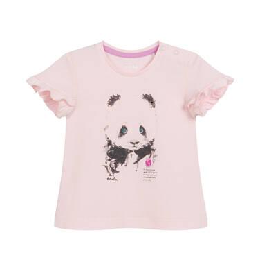 Endo - Bluzka dla dziecka do 2 lat, z pandą, różowa N03G049_1