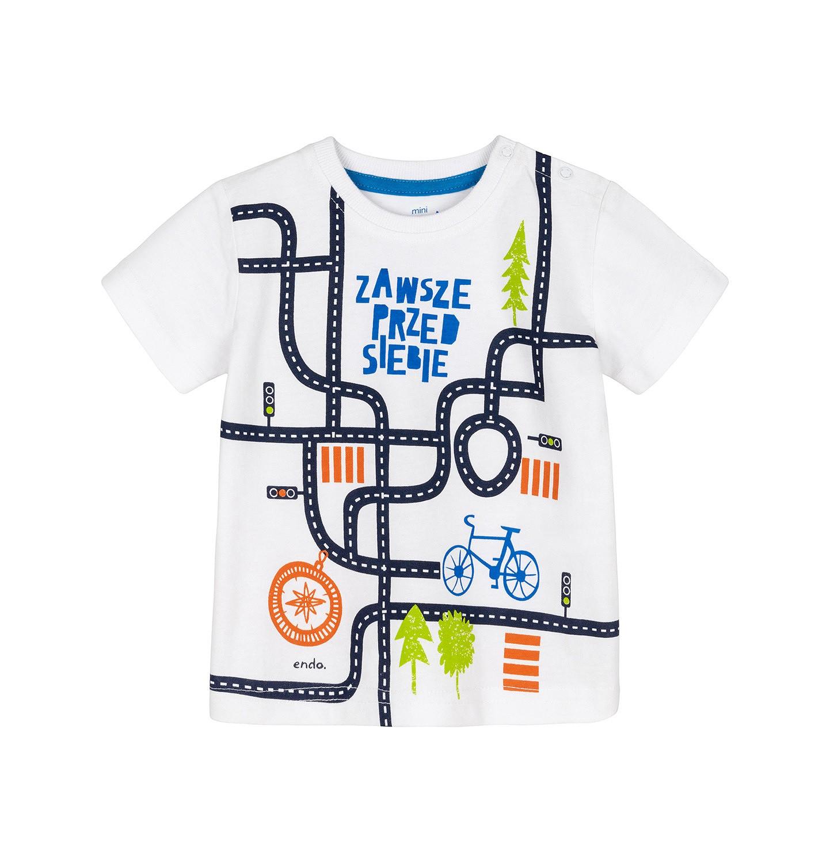 Endo - T-shirt z krótkim rękawem dla dziecka 0-3 lata N91G064_1