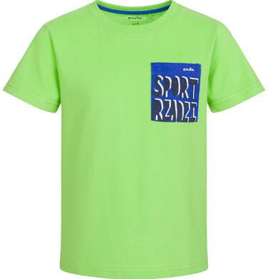 Endo - T-shirt z krótkim rękawem dla chłopca, sport rządzi, zielony, 9-13 lat C03G554_1