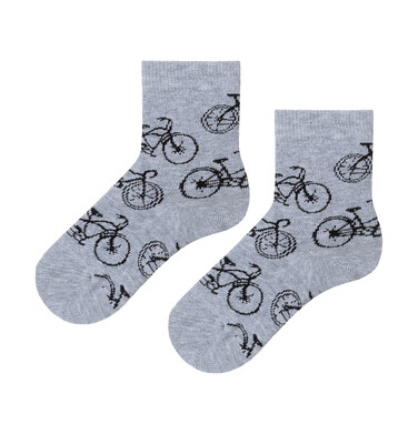 Endo - Szare skarpetki dziecięce w rowery C08P024_1 5