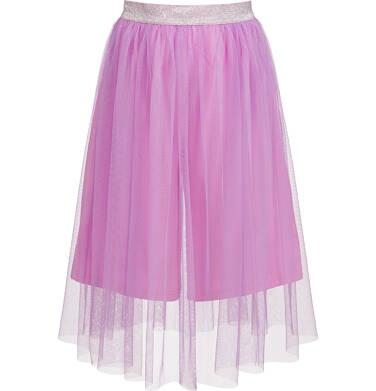 Spódnico-spodnie z tiulem, ze srebrną gumką w pasie, różowe, 2-8 lat D03J013_1