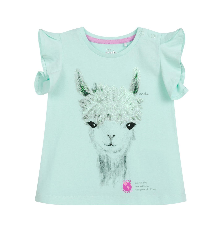 Endo - Bluzka dla dziecka do 2 lat, z alpaką, niebieska N03G050_1