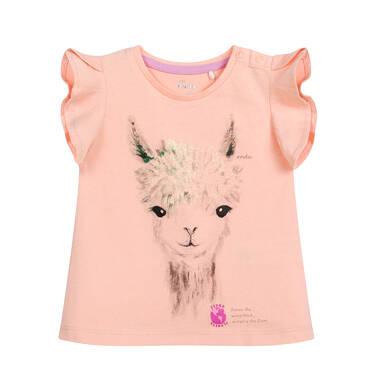 Endo - Bluzka dla dziecka do 2 lat, z alpaką, pomarańczowa N03G050_2