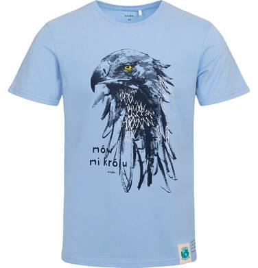 Endo - T-shirt męski z orłem, niebieski Q05G004_1 8
