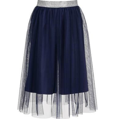 Spódnico-spodnie z tiulem, ze srebrną gumką w pasie, granatowe, 2-8 lat D03J013_2