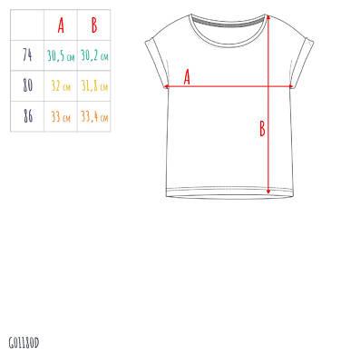 Endo - Bluzka dla dziecka do 2 lat, z tygrysem, żółta N03G051_1,2