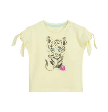 Bluzka dla dziecka do 2 lat, z tygrysem, żółta N03G051_1