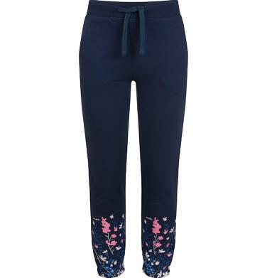 Endo - Spodnie dresowe dla dziewczynki, granatowe, 2-8 lat D03K070_1 126
