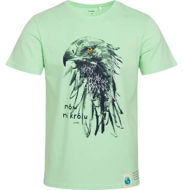 Endo - T-shirt męski z orłem, zielony Q05G004_2 7