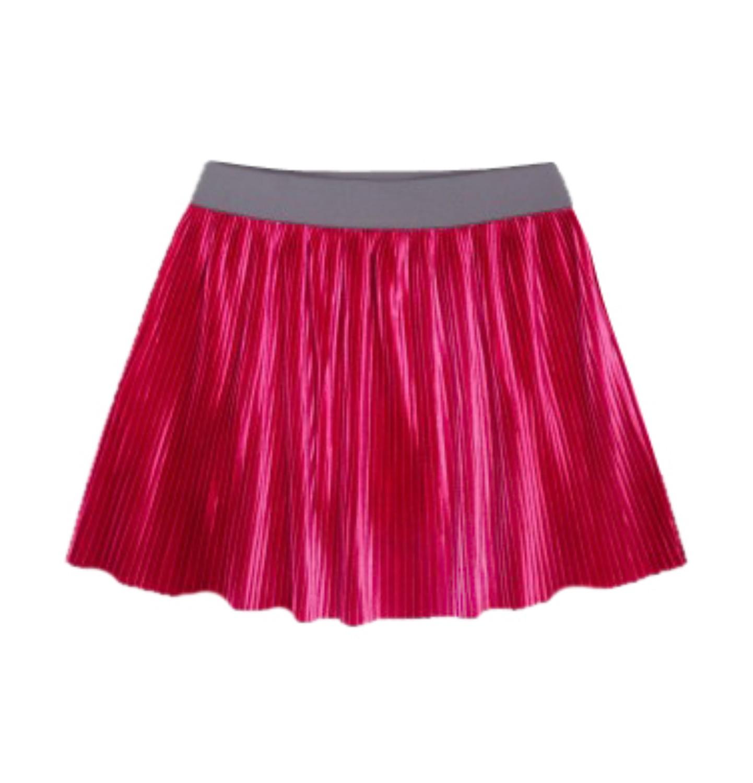 Endo - Welurowa spódnica z drobnymi pliskami dla dziewczynki 3-8 lat D72J010_2