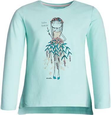 """Endo - """"Ładne kwiatki"""" T-shirt z długim rękawem dziewczynki 3-8 lat D82G027_1"""