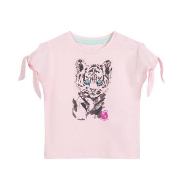 Endo - Bluzka dla dziecka do 2 lat, z tygrysem, różowa N03G051_2