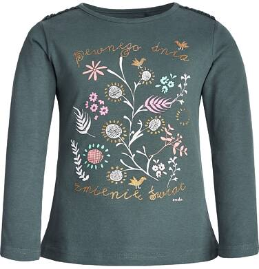 Endo - Bluzka z długim rękawem dla dziewczynki 3-8 lat D82G028_1