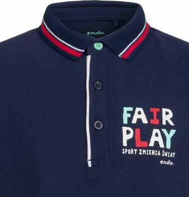 Endo - Koszulka polo z krótkim rękawem dla chłopca, fair play, ciemnogranatowa, 2-8 lat C03G015_1