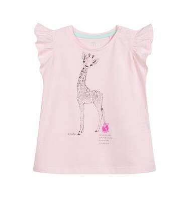 Endo - Bluzka dla dziecka do 2 lat, z żyrafą, różowa N03G052_1,1