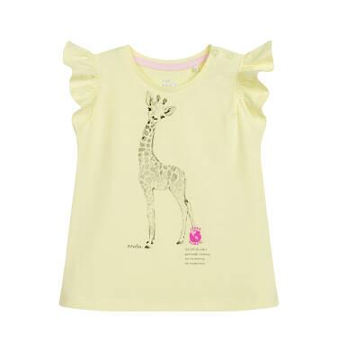 Endo - Bluzka dla dziecka do 2 lat, z żyrafą, żółta N03G052_2