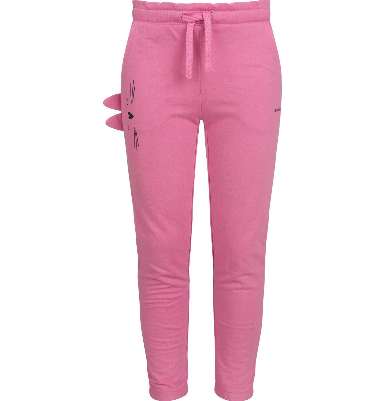 Endo - Spodnie dresowe dla dziewczynki, różowe, 2-8 lat D03K076_1
