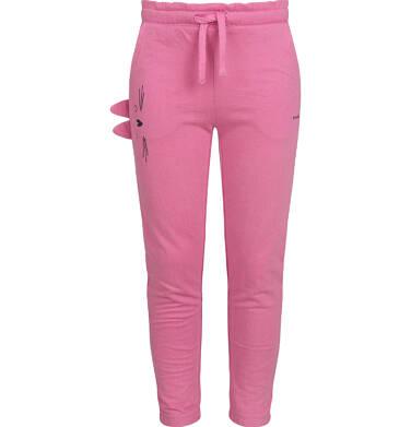 Endo - Spodnie dresowe dla dziewczynki, różowe, 2-8 lat D03K076_1 79