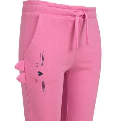 Endo - Spodnie dresowe dla dziewczynki, różowe, 2-8 lat D03K076_1,2