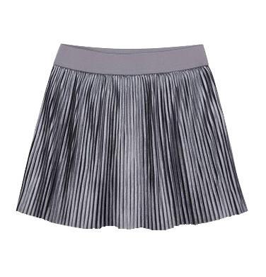 Endo - Welurowa spódnica z drobnymi pliskami dla dziewczynki 9-13 lat D72J510_3