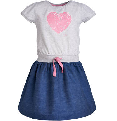 Endo - Sukienka z krótkim rękawem dla dziewczynki 3-8 lat D81H014_1